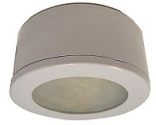 bhl led p120 120 volt led dimmable puck lights black white or brushed. Black Bedroom Furniture Sets. Home Design Ideas