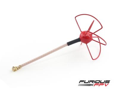Furious FPV UFL Clover Antenna - Red