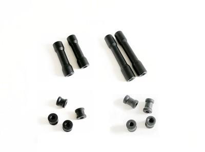 Standoff M3 threaded Aluminium Round (4 pack) - Matte Black - Various Sizes