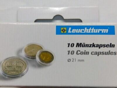 Капсулы для монет 21,00 мм. 1 * 10 шт. Lighthaus / Leuchtturm.