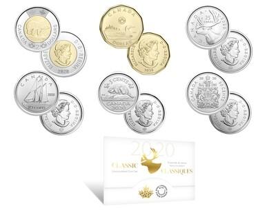 Канада. Елизавета II. 2020. 1 доллар. Набор монет. Серия: Годовой набор. #86 - Классик. Ni, Fe. KM#. BU/PROOF.