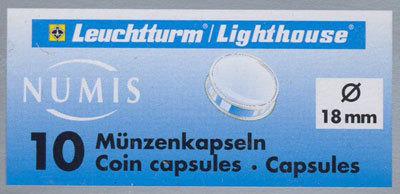 Капсулы для монет 18.00 мм. 1 * 10 шт. Lighthaus / Leuchtturm.