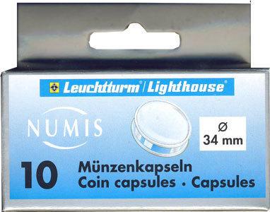 Капсулы для монет 34.00 мм. 1 * 10 шт. Lighthaus / Leuchtturm.