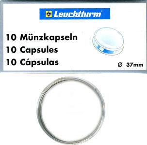 Капсулы для монет 37.00 мм. 1 * 10 шт. Lighthaus / Leuchtturm.