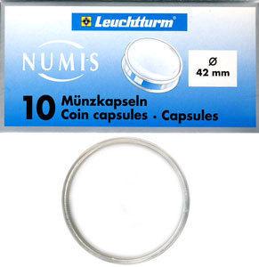 Капсулы для монет 42.00 мм. 1 * 10 шт. Lighthaus / Leuchtturm.