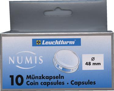 Капсулы для монет 48.00 мм. 1 * 10 шт. Lighthaus / Leuchtturm.