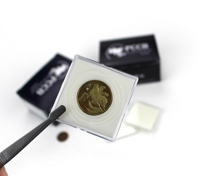 Квадратные капсулы для монет с подбором разного диаметра 20.0/25.0/30.0/35.0/40.0 мм. 1 * 10 шт. PCCB