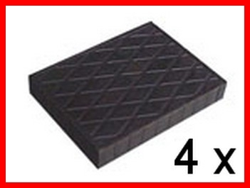 Set of 4 Universal Scissor Lift Rubber Pads - H. mm. 20 - 40 - 60 - 80 - tampons
