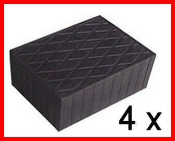 Set of 4 Universal Scissor Lift Rubber Pads - 160x120x60 mm - tampons