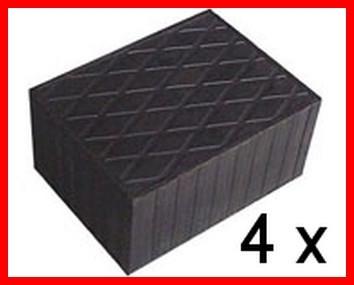 Set of 4 Universal Scissor Lift Rubber Pads - 160x120x80 mm - tampons