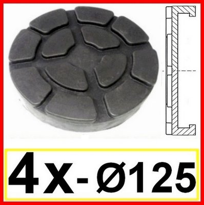 SET OF 4 PADS for Ravaglioli 2 Post D. 125 mm - tampons
