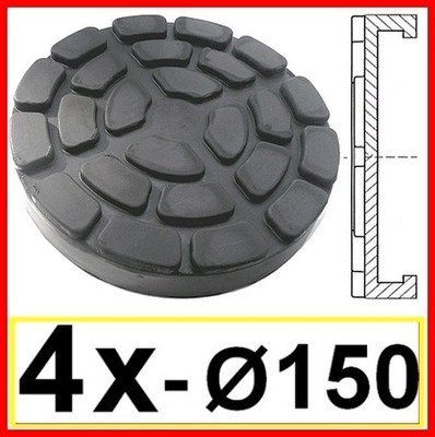 SET OF 4 PADS for Ravaglioli 2 Post D. 150 mm - tampons