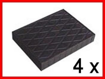 Tamponi per ponte sollevatore in vera gomma- kit 4 pezzi H. mm 20 - 40 - 60 - 80 - 120 - 160