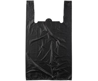 Пакет майка ЭКСТРА черный 25х45см 100шт