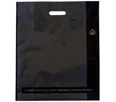 Пакет с вырубной ручкой Serikoff Соты черный 45х54см