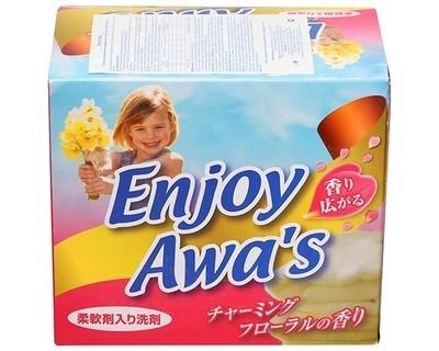 Стиральный порошок со смягчающим эффектом ROCKET SOAP Enjoy Awa's с цветочным ароматом 900гр