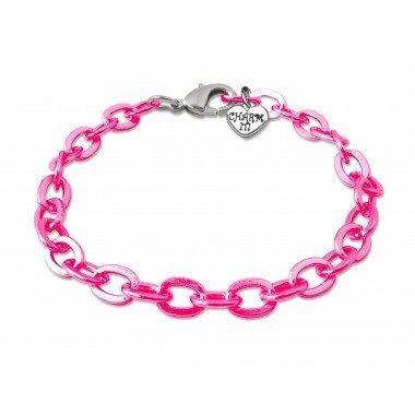 Pink Chain Link Bracelet