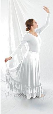 BM - Plus Size 540° Skirt Ad White ONFA