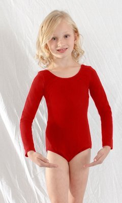 Basic Moves Lined Long Sleeve Leotard - Child