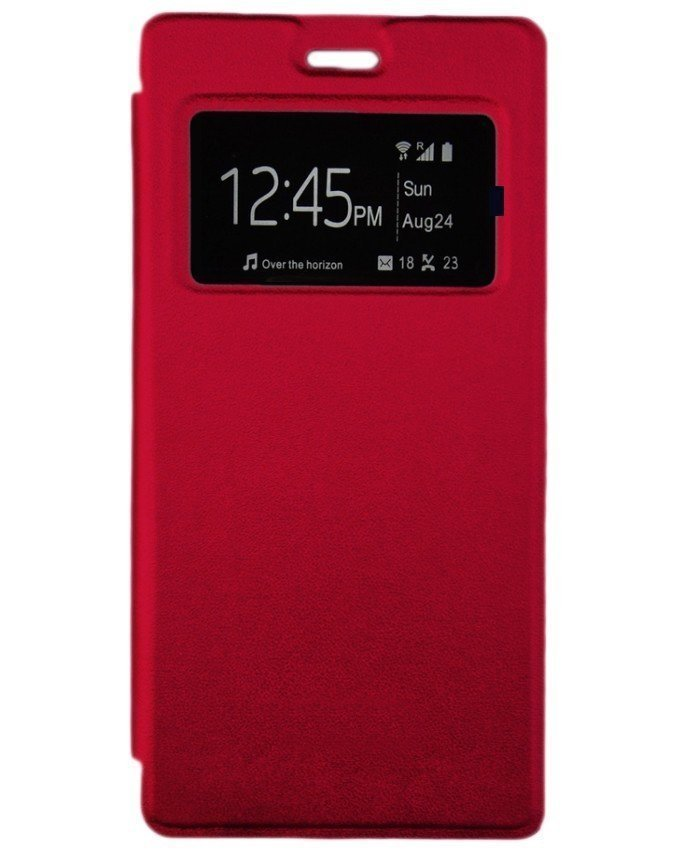 Flip cover pour infinix Hot 3 X553 - Rouge
