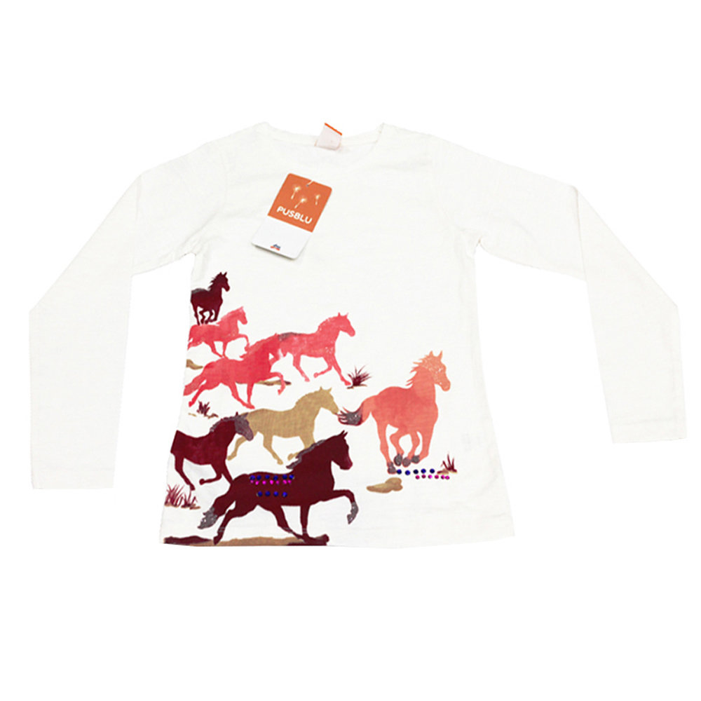 Pull 'Cheval' pour fille 'PUSBLU' - Taille 7-8 ans