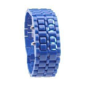 Montre bracelet Samourai à affichage LED pour Femme - Bleu