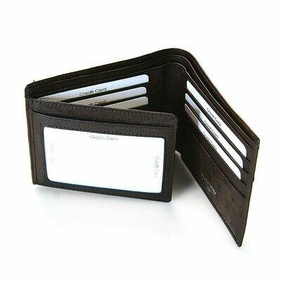Blake wallet - Ostrich Quill