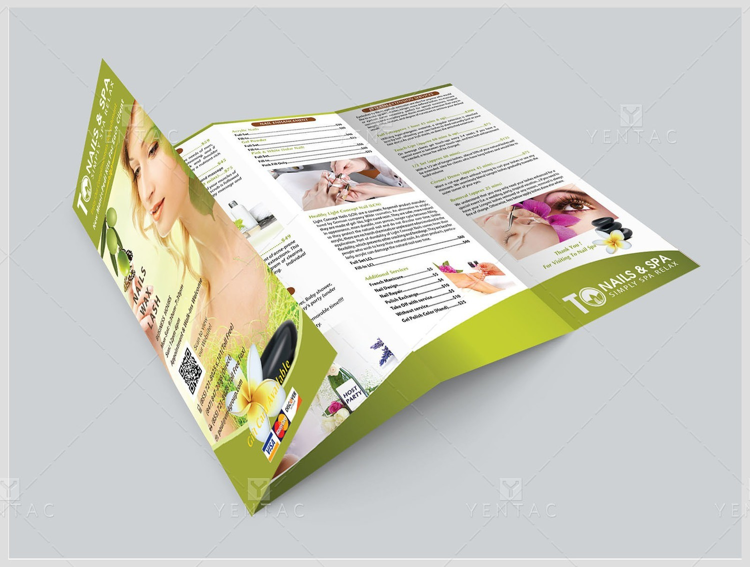 04 - Menu-Take-Out - 8.5x14 with Four Fold (Accordion Fold) TO Brand Franchise ClientID #3011 Salon