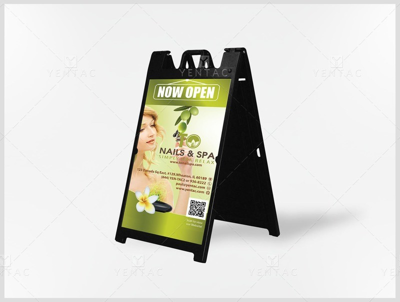05.2.1 - Adversiting A - Signs - Sidewalk - Professional Design - TO Nails & Spa Franchise