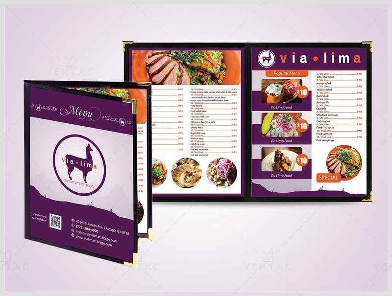 03 - Menu Dine-In - Restaurant #8000 Via Brand
