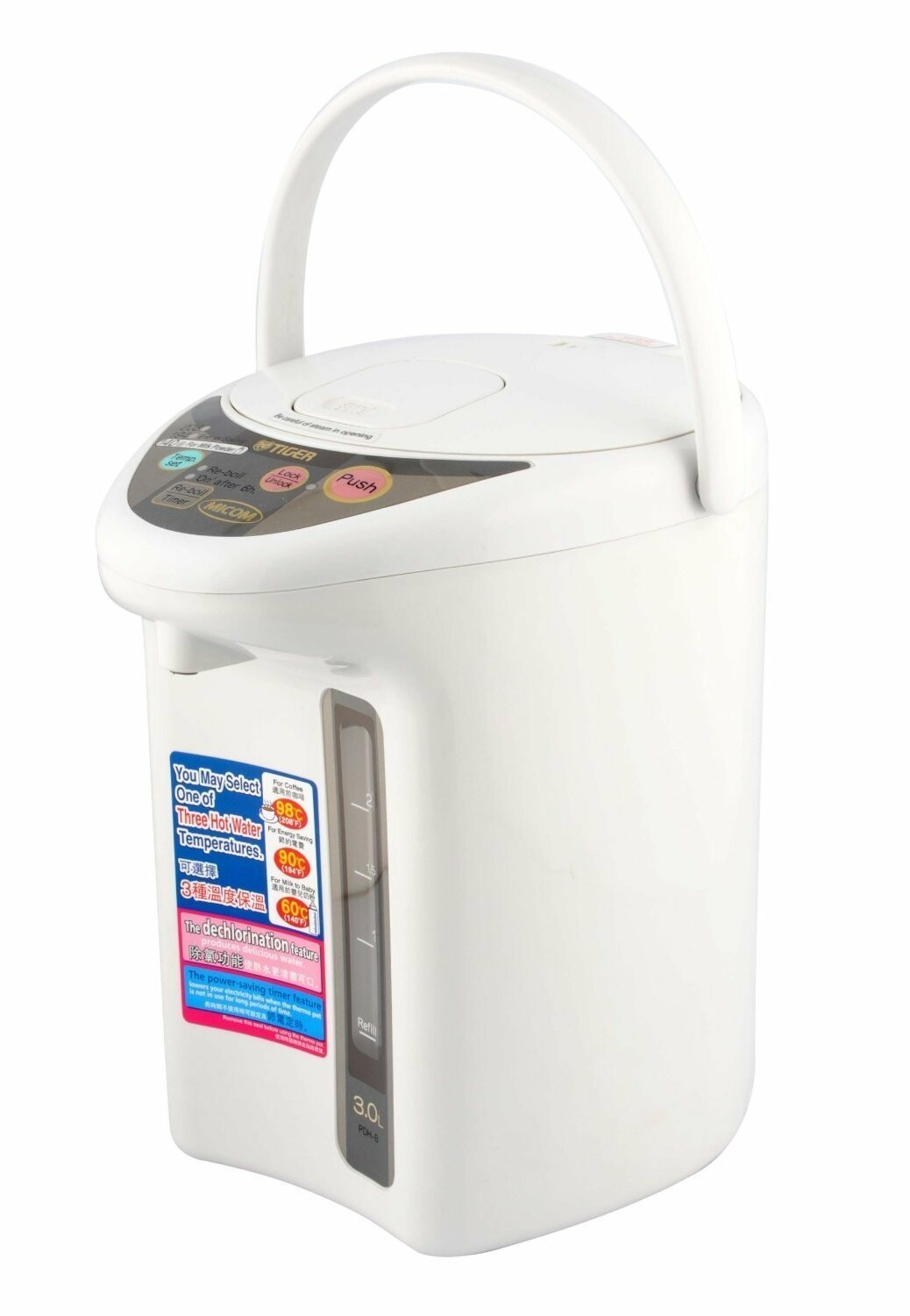 Tiger Coporation PDH-B30U Electric Water Heater, 5-Liter