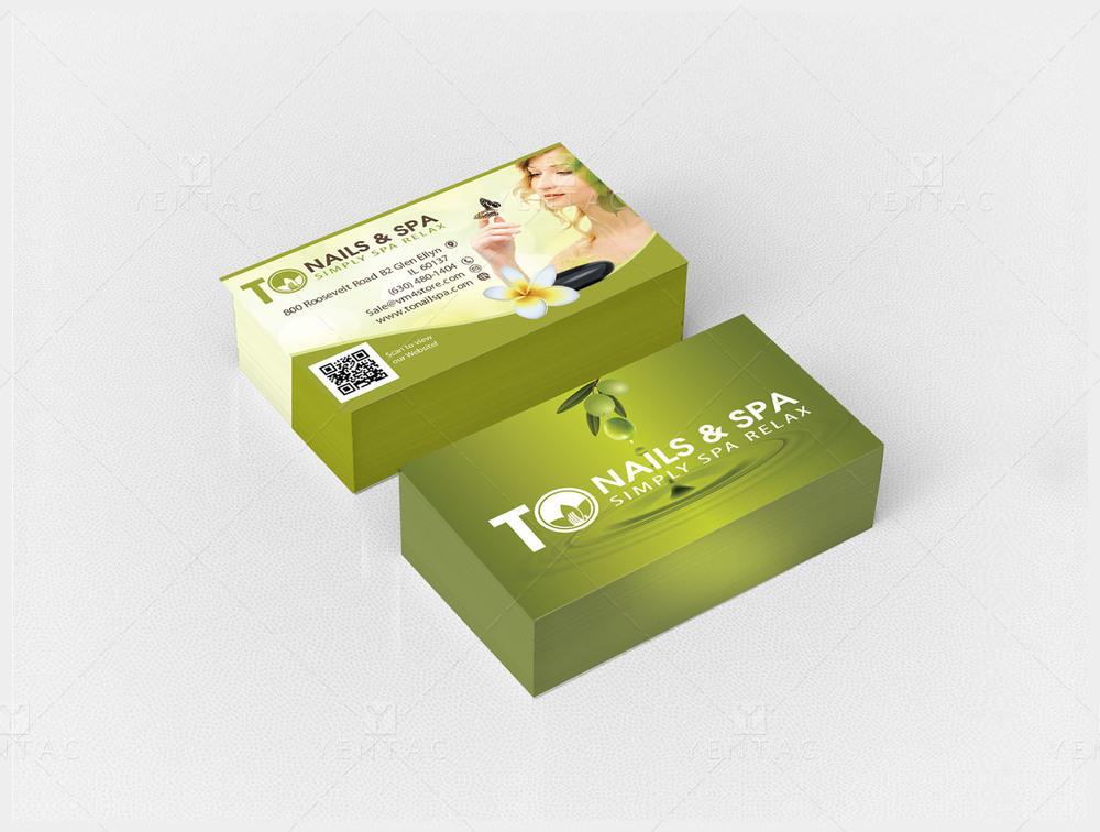02.0 - Business Card - Nail Salon #3011 TO Nail Salon Brand