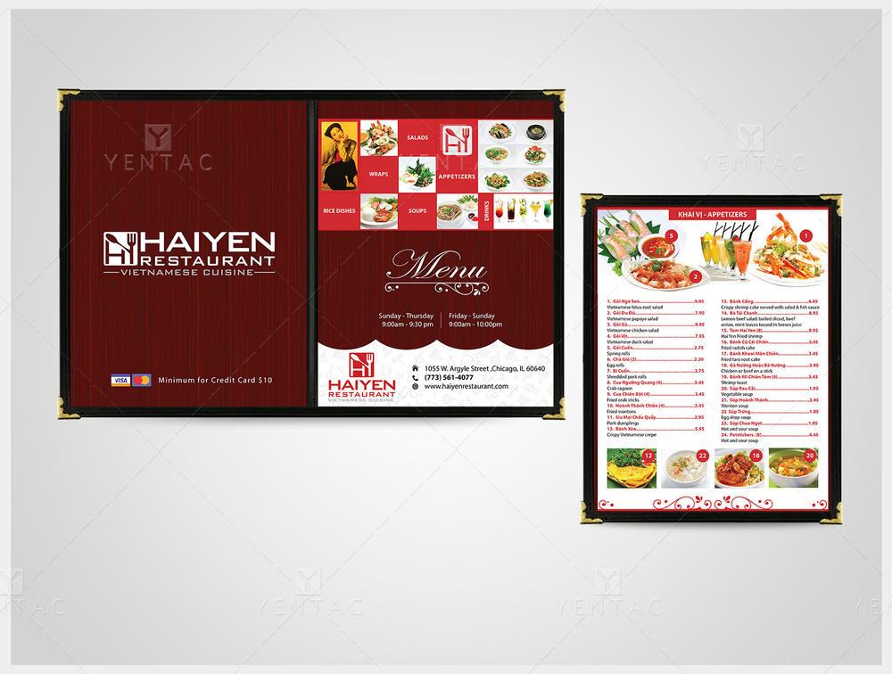03 - Menu Dine-In - Restaurant #1003 Hai Yen