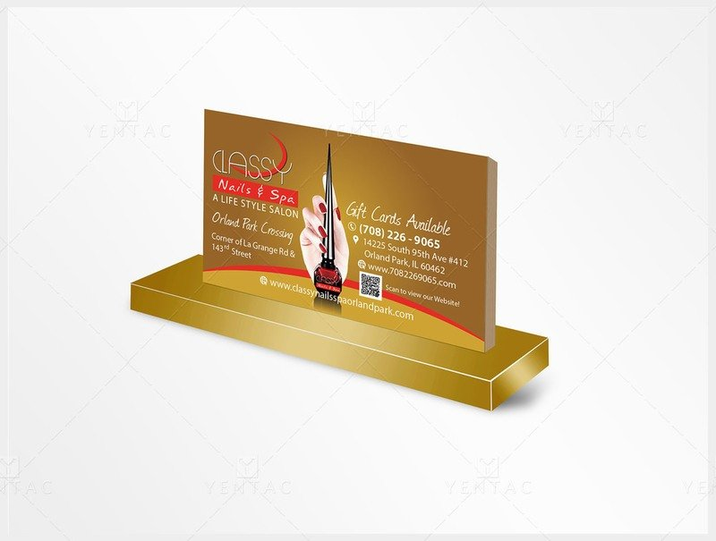 02 - Business Card - Nail Salon #0990 Classy Brand