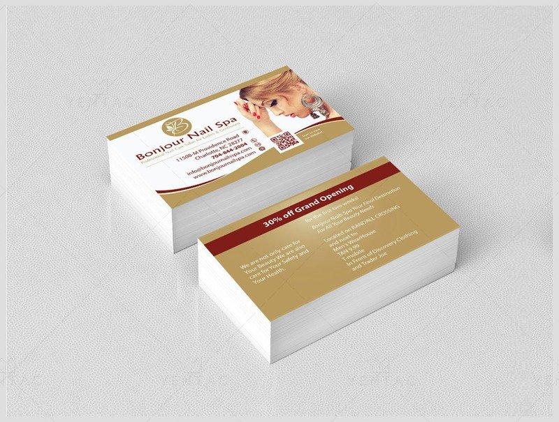 02 - Business Card - Bonjour Nails Spa #5070 Salon