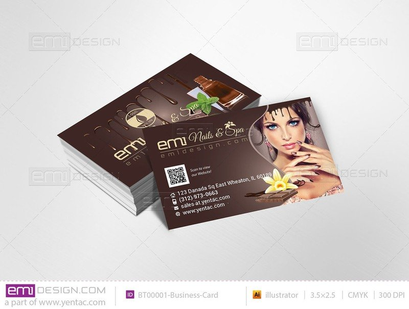 02 - Business-Card - Chocolate Brown Color Template #BT00001