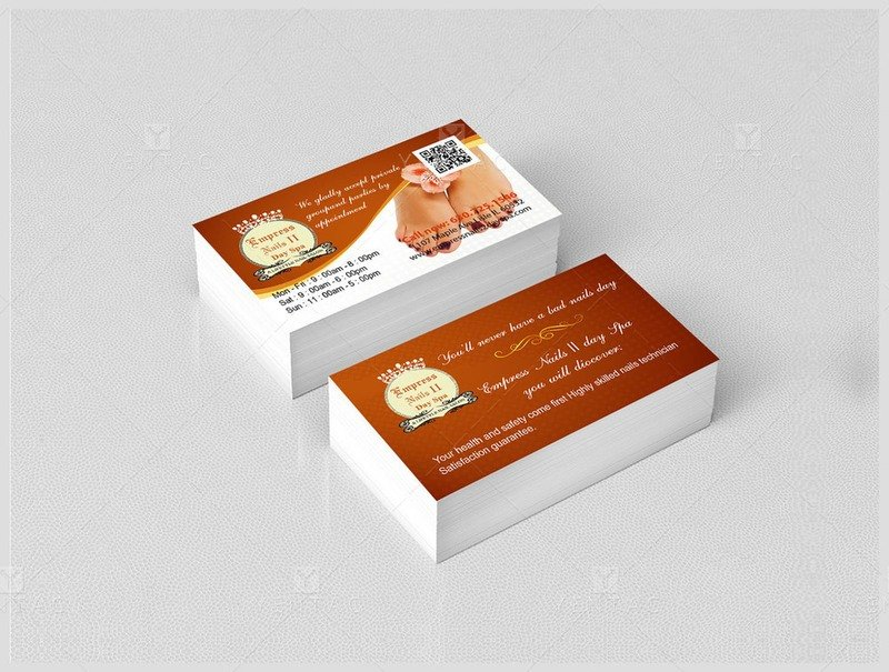 02 - Business Card - Empress Nails Spa #4007 Salon