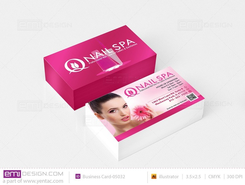 Business Card - Template buscard-05032 - Q Nail