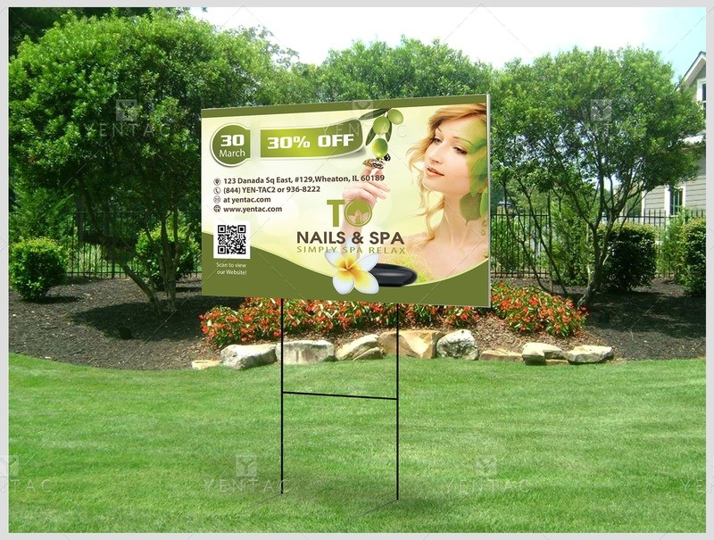 05.3 - Outdoor Banner Yard Sign - Size 2x3 Feet - 3011