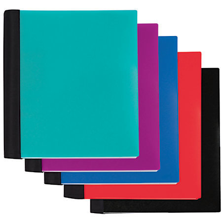"Office Depot Brand Spiral Stellar Notebook, 9"" x 11"", 5 Subject, College Ruled, 200 Sheets, 56% Recycled, Assorted"