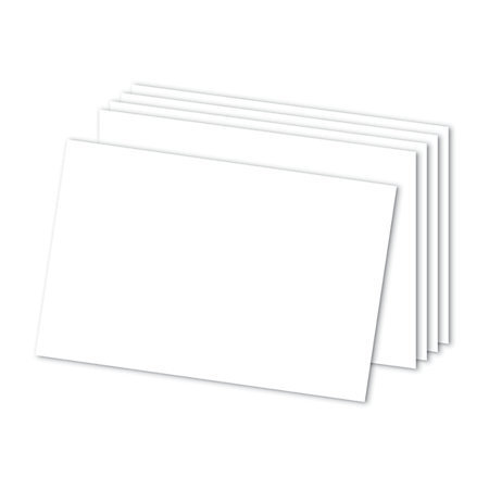 "Office Depot Brand Blank Index Cards, 4"" x 6"", White, Pack Of 300"