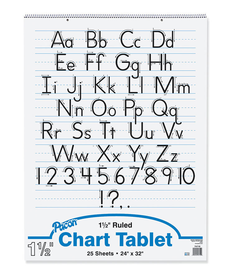 "Pacon Chart Tablet, 24"" x 32"", 1 1/2"" Ruled, 25 Sheets"