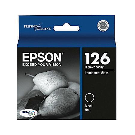 Epson® 126, (T126120) DuraBrite® Ultra Black Ink Cartridge