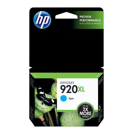 HP 920XL, Cyan Original Ink Cartridge (CD972AN)