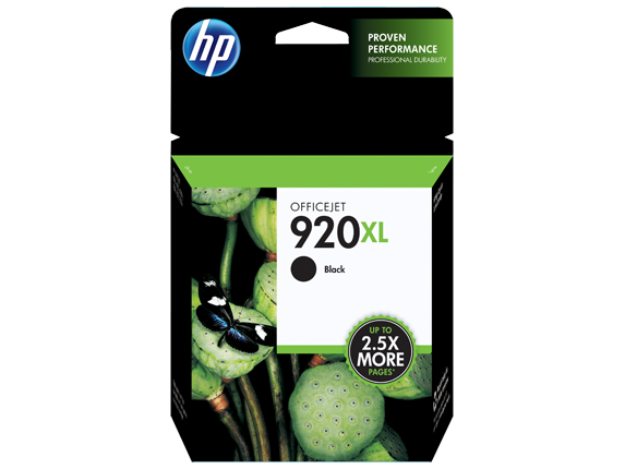 HP 920XL, Black Original Ink Cartridge (CD975AN)