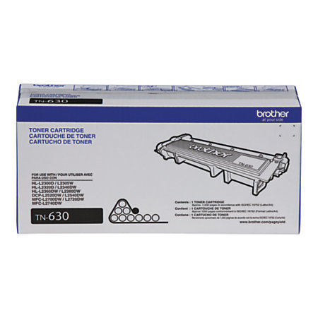 Brother® TN-630 Black Toner Cartridge
