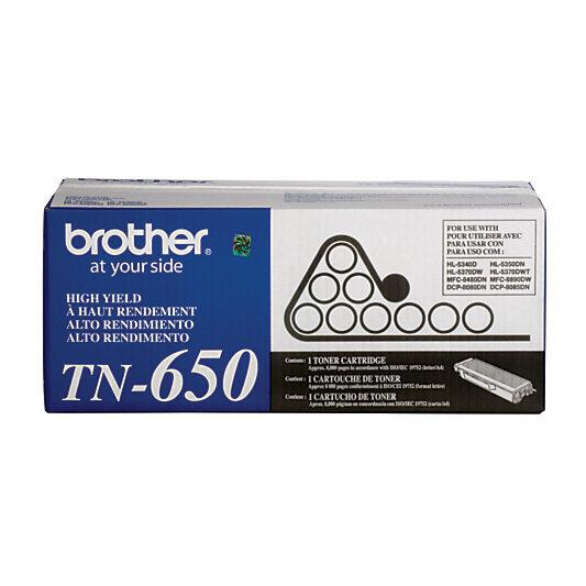 Brother® TN-650 High-Yield Black Toner Cartridge