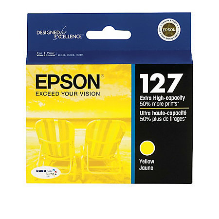 Epson® 127, (T127420-S) DuraBrite® Ultra Yellow Ink Cartridge