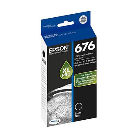 Epson® 676, (T676XL120-S) DuraBrite® Ultra Black Ink Cartridge
