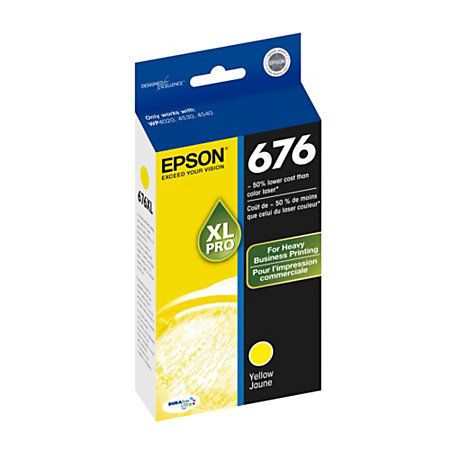 Epson® 676, (T676XL420-S) DuraBrite® Ultra Yellow Ink Cartridge